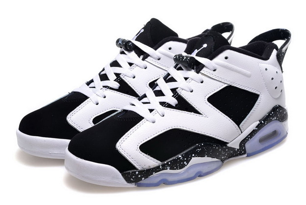 Air Jordan 6 Low GS Shoes Oreo/black white